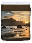Fire In The Sand Duvet Cover by Adam Jewell