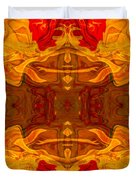 Fire In The Sky Abstract Pattern Artwork Duvet Cover
