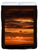 Fire In The Sky Duvet Cover by Anne Gilbert