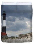 Fire Island Light From The Beach Duvet Cover
