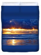 Fire On The Horizon Duvet Cover