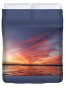 Fire On The Lake Duvet Cover