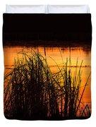 Fire On The Marsh Duvet Cover