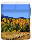 Fire On The Mountain Duvet Cover by Dana Kern