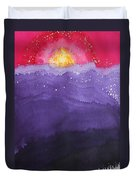 Fire On The Mountain Original Painting Duvet Cover