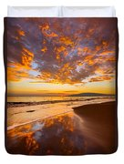 Fire Over Lahaina Duvet Cover