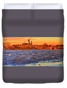 Fire Over The Clinton County Courthouse Duvet Cover