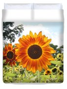 Fire Petals Duvet Cover