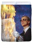 Fire Reader Duvet Cover