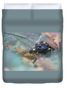 Fire Salamander Front View Duvet Cover