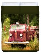 Fire Truck Digital Painted Duvet Cover