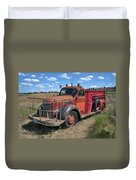 Fire Truck International Harvester C. 1946 Duvet Cover