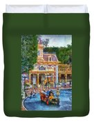 Fire Truck Main Street Disneyland Photo Art 02 Duvet Cover