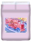 Fire Truck Duvet Cover
