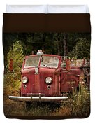Fire Truck With Texture Duvet Cover