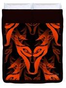 Fire Wolf Duvet Cover