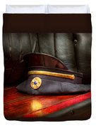 Firefighter - Hat - The Ex Chiefs Hat Duvet Cover by Mike Savad