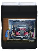 Firehall Mural Sultan Washington 1 Duvet Cover