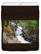 Firehole Falls Duvet Cover