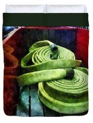 Fireman - Coiled Fire Hoses Duvet Cover
