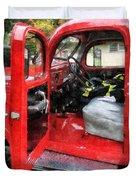 Fireman - Fire Truck With Fireman's Uniform Duvet Cover