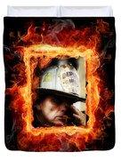 Fireman Hero Duvet Cover