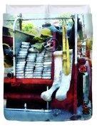 Fireman - Hoses On Fire Truck Duvet Cover