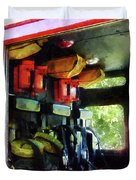 Fireman - Inside The Fire Truck Duvet Cover