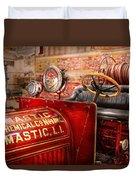 Fireman - Mastic Chemical Co Duvet Cover