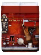 Fireman - Old Fashioned Controls Duvet Cover