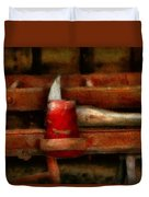 Fireman - The Fireman's Axe Duvet Cover by Mike Savad