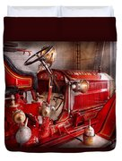 Fireman - Truck - Waiting For A Call Duvet Cover