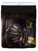 Fireman - Worn And Used Duvet Cover