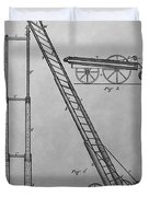 Fireman's Hydraulic Lift Patent Drawing Duvet Cover