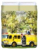 Firemen - Back At The Firehouse Duvet Cover
