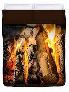 Fireplace II Duvet Cover