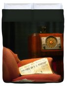 Fireside Chats With Fdr 01 Duvet Cover