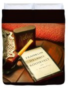 Fireside Chats With Fdr 05 With A Pipe And Book Duvet Cover