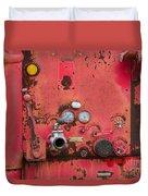 Firetruck Red Duvet Cover