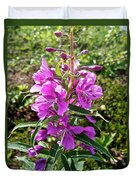 Fireweed In Katmai National Preserve-ak- Duvet Cover