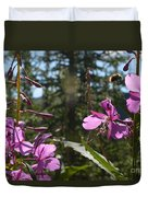 Fireweed Number 10  Duvet Cover