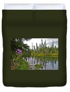 Fireweed On The Clearwater Duvet Cover