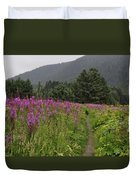 Fireweed Path At Fish Creek Duvet Cover