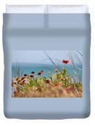 Firewheels By The Sea Duvet Cover