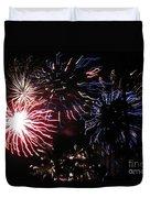 Firework - Saint Denis - Ile De La Reunion - Reunin Island - Indian Ocean Duvet Cover by Francoise Leandre