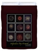 Fireworks - Black Background Duvet Cover