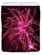 Rockets Red Glare Fireworks Duvet Cover