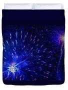 Fireworks At Night 1 Duvet Cover