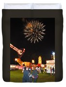 Fireworks At The Carnival Duvet Cover