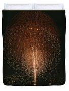 Fireworks Display Over Lake Union  Duvet Cover